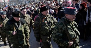 Pro-Russian rebels rallied in Lenin Square in Donetsk, Ukraine, on Monday. Morale is high among the separatists after they pushed the Ukrainian army out of Debaltseve.