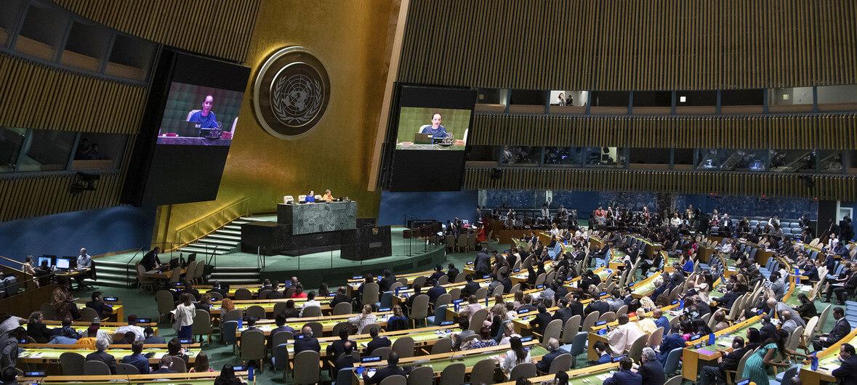ONU/Eskinder Debebe La Asamblea General elige a cinco miembros no permanentes del Consejo de Seguridad.