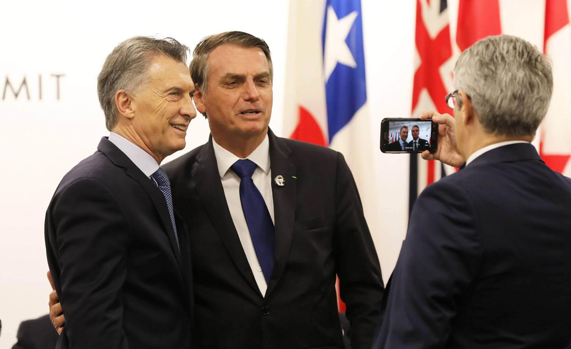 Macri y Bolsonaro, el sábado pasado en Osaka (Japón). D. J. AFP