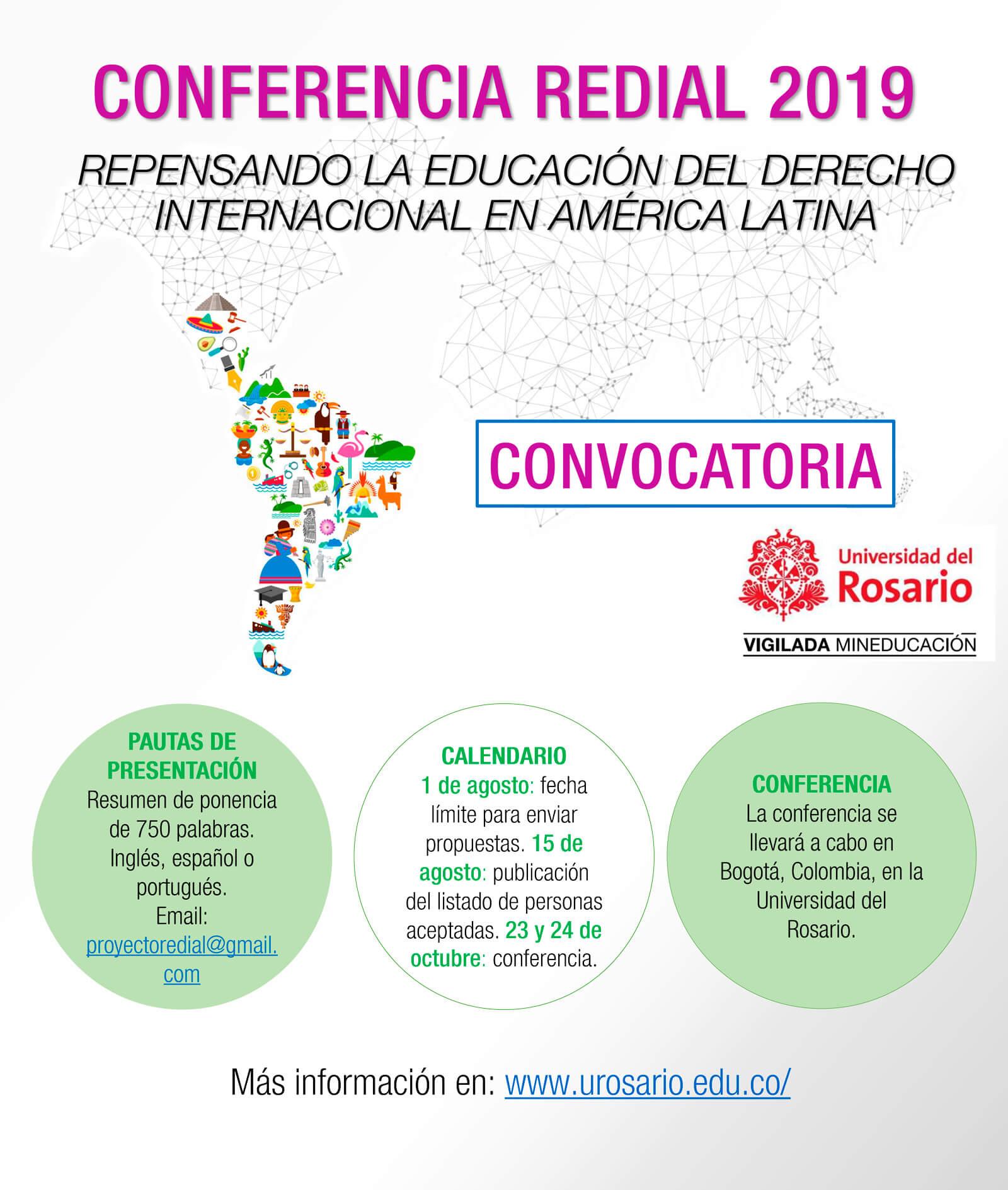 Conferencia REDIAL 2019: Repensando la Educación del Derecho Internacional en América Latina