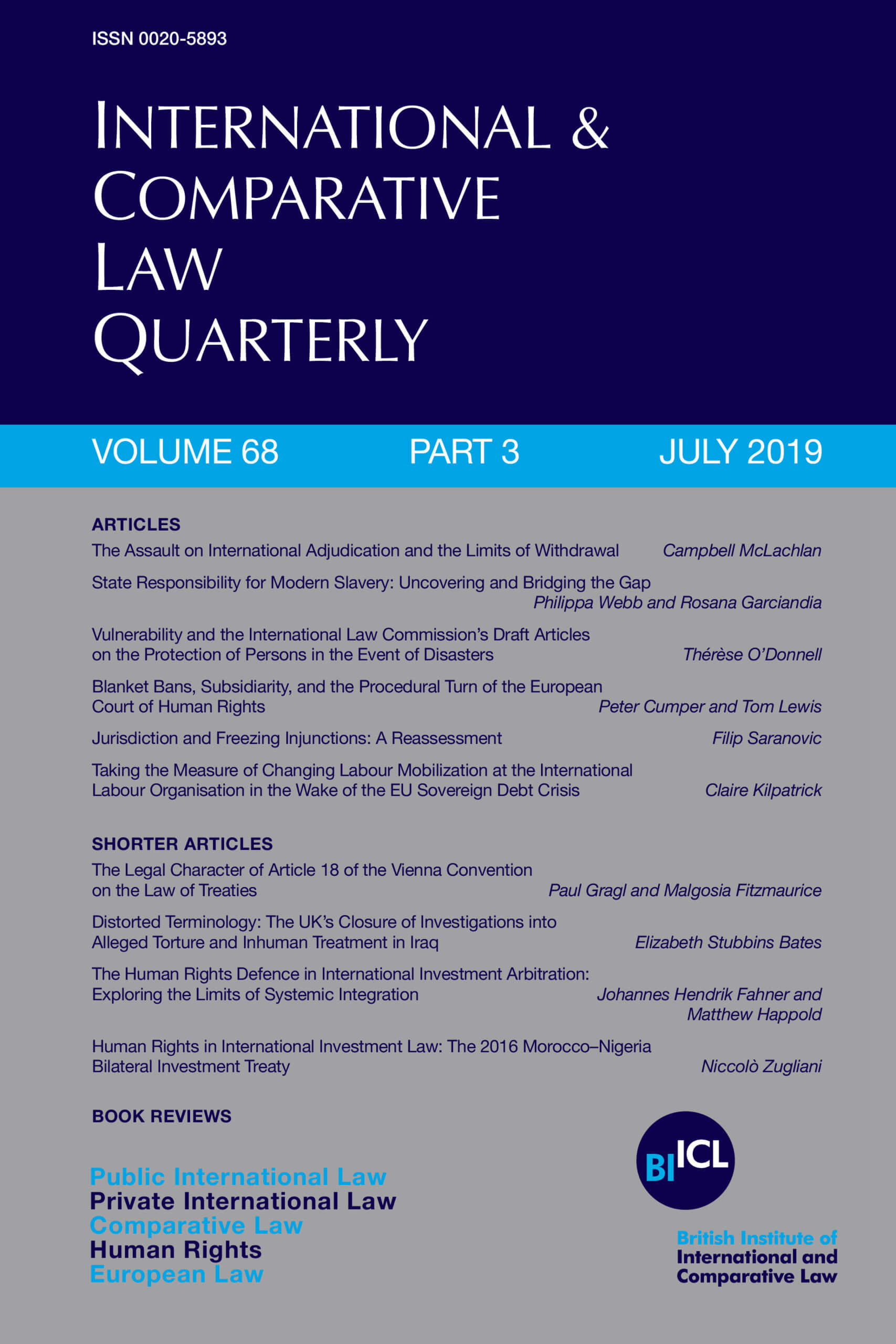 International & Comparative Law Quarterly - Volume 68 - Issue 3 - July 2019