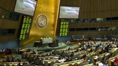 ARCHIVO: ONU/Eskinder Debebe Sala de la Asamblea General durante una votación.